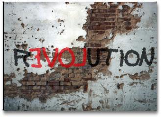 Plakat - Révolution, graffiti