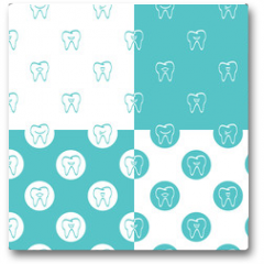 Plakat - Tooth patterns set. Vector Illustration