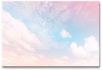 Plakat - Sky with a pastel colored gradient
