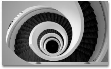 Plakat - Modern spiral stairs detail