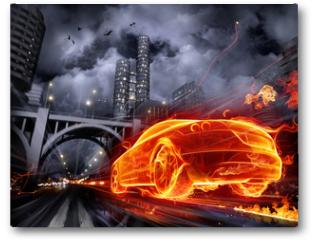 Plakat - Fire car