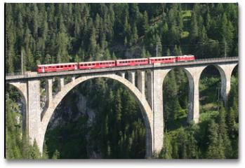 Plakat - Rhätische Bahn - Wiesener Viadukt