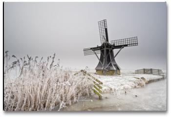 Plakat - windmill landscape