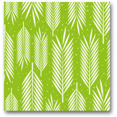 Plakat - Seamless pattern with palm leaves ornament