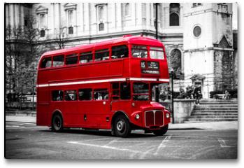Plakat - London's iconic double decker bus.