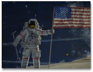 Plakat - man on the moon