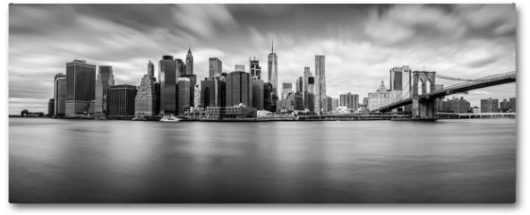 Plakat - Manhattan from Brooklyn (B&W)
