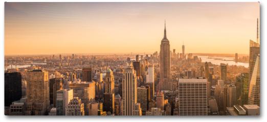 Plakat - New York City skyline panorama at sunset