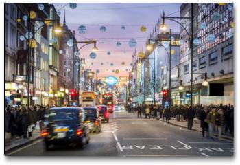 Plakat - London Oxford Street, Christmas Day
