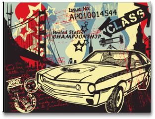 Plakat - Abstract CITY Print Design Artwork