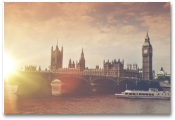 Plakat - London Big Ben Sunset
