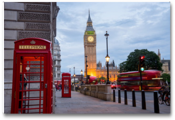 Plakat - Big BenBig Ben and Westminster abbey in London, England