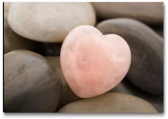 Plakat - rose quartz heart