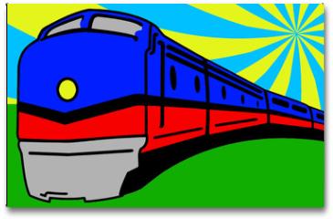 Plakat - Train Pop Art