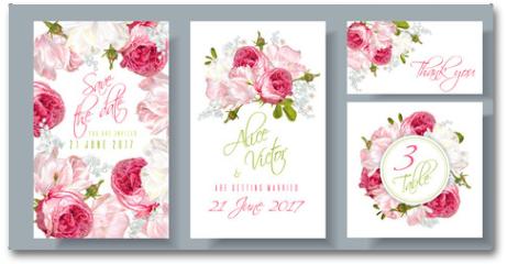 Plakat - Rose wedding invitation
