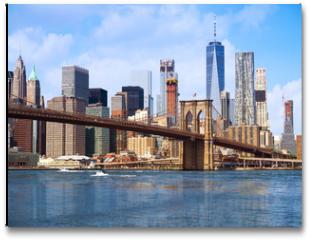 Plakat - New York city Lower Manhattan skyline