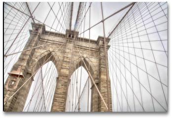 Plakat - New York, view of the Brooklyn Bridge