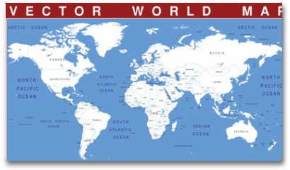 Plakat - VECTOR WORLD MAP