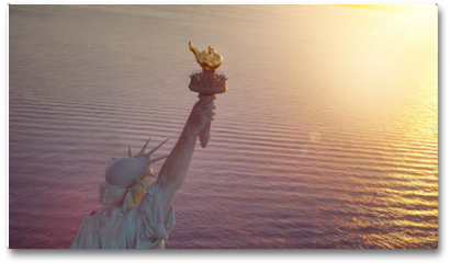 Plakat - Statue of Liberty with copy space