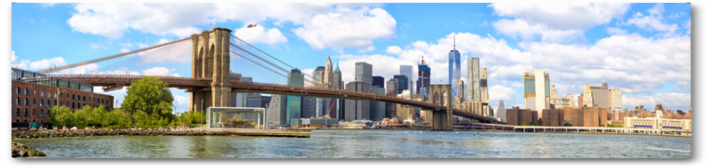 Plakat - New York City Brooklyn Bridge panorama with Manhattan skyline