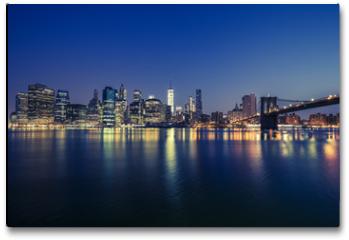 Plakat - View of Manhattan by night