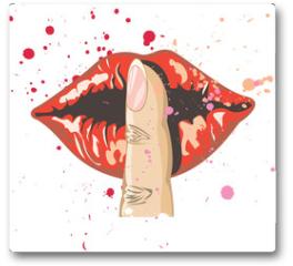 Plakat - lips
