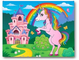 Plakat - Standing unicorn theme image 3