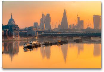 Plakat - City of London skyline, London, UK