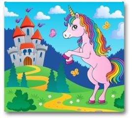 Plakat - Standing unicorn theme image 4