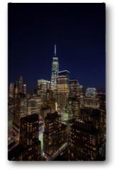 Plakat - Downtown Manhattan evening