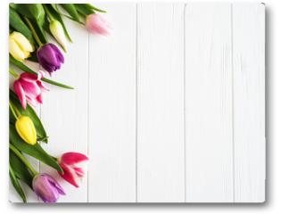 Plakat - Spring tulips flowers