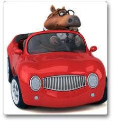 Plakat - Fun horse - 3D Illustration