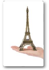 Plakat - Paris Eiffel tower souvenir in hand