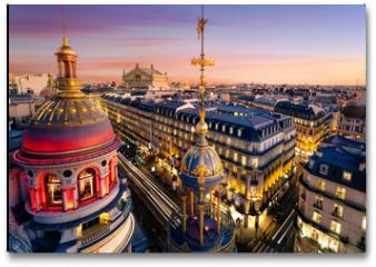 Plakat - Toits de Paris, France