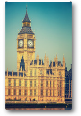 Plakat - Big Ben and houses of parliament in London, UK