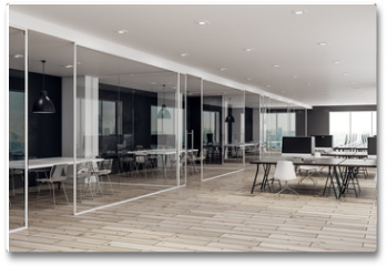 Plakat - Modern coworking office interior