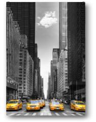 Plakat - Rangée de taxis à New-York