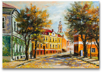 Plakat - Ancient Vitebsk in the autumn