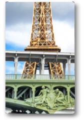 Plakat - la Tour Eiffel vista dalla Senna