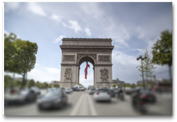 Plakat - triumphal arch on the Champs Elysées