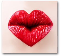Plakat - saint valentine lips