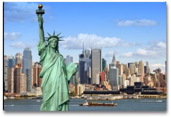 Plakat - new york cityscape, tourism concept photograph