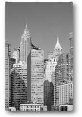 Plakat - Black and white picture of New York City modern skyline, USA.