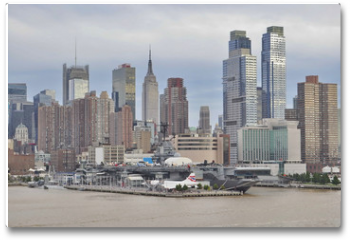 Plakat - A View of New York City from Hudson River, USA
