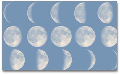 Plakat - Mond Phasen - Tag