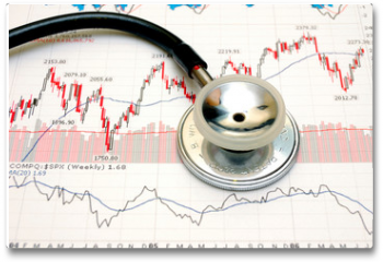Plakat - stock chart analysis - concept