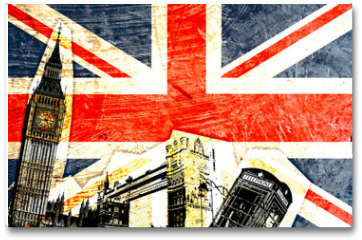 Plakat - drapeau anglais