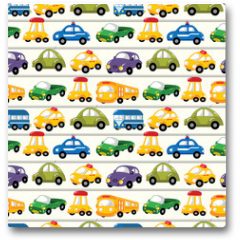 Plakat - seamless car pattern