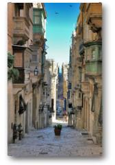 Plakat - long view of maltese street