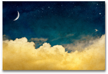 Plakat - Moon and Cloudscape